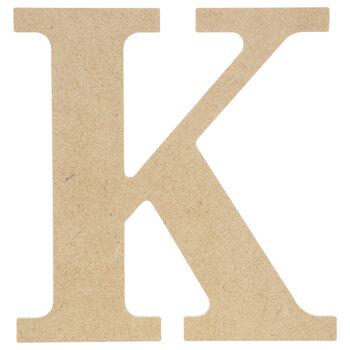 """Wood Letter K - 9 1/2"""""""