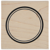 Double Circle Rubber Stamp