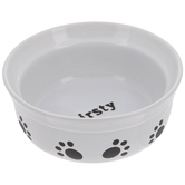 Thirsty Paw Print Dog Bowl