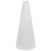 """White CraftFoM Foam Cone - 4"""" x 9"""""""