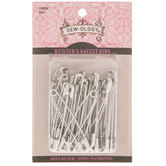 Nickel Quilter's Safety Pins - Size 3