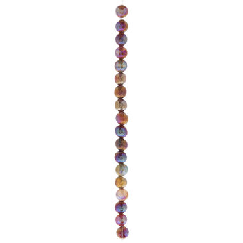 Purple Dyed Agate Bead Strand