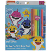 Baby Shark Coloring & Sticker Pad