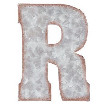 Galvanized Metal Letter Wall Decor - R