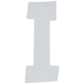 White Letter Wood Wall Decor - I