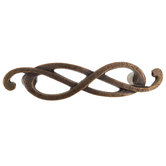 Antique Bronze Twist Metal Pull