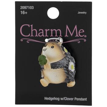 Hedgehog With Clover Pendant