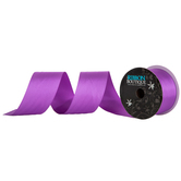 "Purple Silky Double-Face Satin Ribbon - 2"""