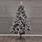 Flocked Bedford Pine Pre-Lit Christmas Tree  - 7 1/2'