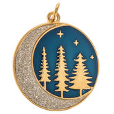 Moon & Trees Round Pendant