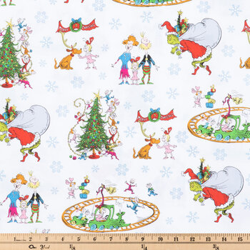Merry Christmas Grinch Cotton Apparel Fabric