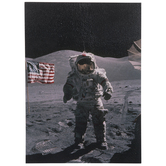Man On The Moon Wood Wall Decor