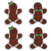 Gingerbread Felt Stickers