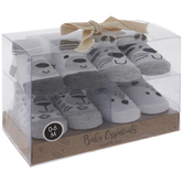 Gray, White & Black Animal Baby Ankle Socks