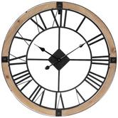 Rustic Outline Metal Wall Clock