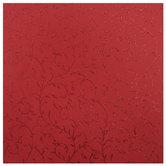 """Red Glitter Vines Scrapbook Paper - 12"""" x 12"""""""