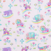 Rainbow Safari Cotton Calico Fabric