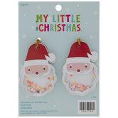 Mini Santa Head Shaker Ornaments
