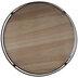 Natural & Black Round Wood Tray