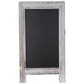 Distressed White Chalkboard Easel