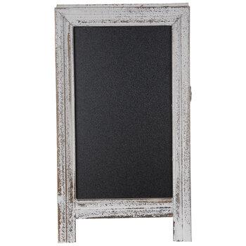 Distressed White Chalkboard Easel