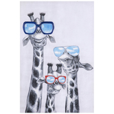 Giraffes With Sunglasses Canvas Wall Decor