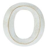 Whitewash Letter Magnet - O