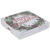 Merry Christmas Wreath Gift Card Holder