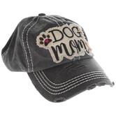 Dog Mom Distressed Baseball Cap