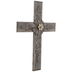 Distressed Floral Wood Wall Cross