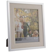 """White With Silver Trim Frame - 8"""" x 10"""""""