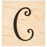 Script Letter Rubber Stamp - C