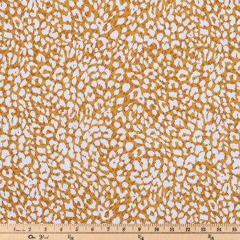 Mustard Leopard Print Duck Cloth Fabric