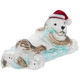 Santa Hat Otter Ornament