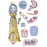 New Year's Girl 3D Stickers
