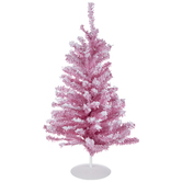 Pink Flocked Christmas Tree - 18""
