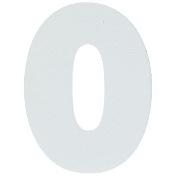 """White Wood Letters O - 2"""""""