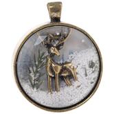 Winter Deer Pendant