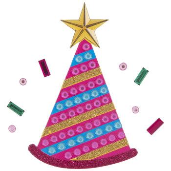 Birthday Hat Glitter & Rhinestone Stickers