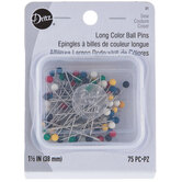 Stainless Steel Long Color Ball Pins - Size 24