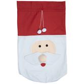 Santa Face Drawstring Bag