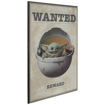 Wanted Baby Yoda Wood Wall Decor