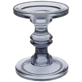 Gray Glass Candle Holder