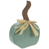 Green Rustic Wood Pumpkin