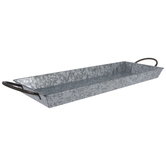 Galvanized Metal Tray - XXL
