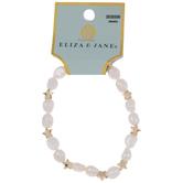 Cultured Pearl & Star Bracelet