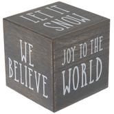Joy To The World Block Wood Decor