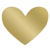 Gold Foil Heart Die Cut Embellishments