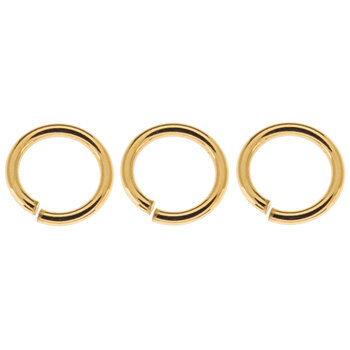 10K Gold Plated Jump Rings - 7.7mm