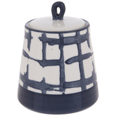 Blue Brush Plaid Canister